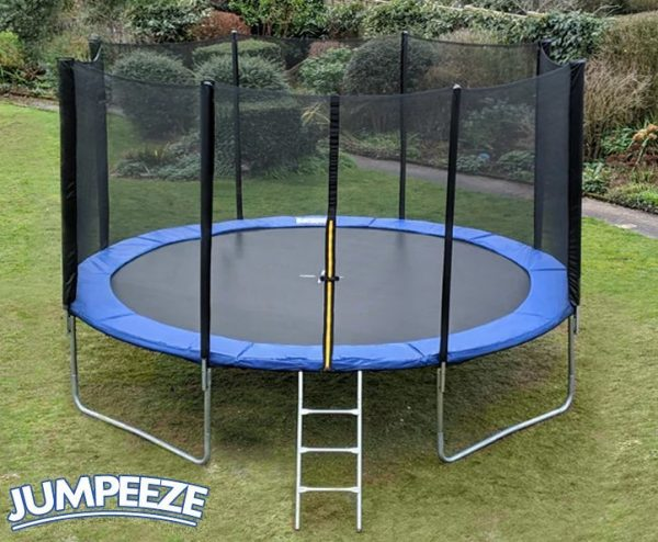 Jumpeeze Blue 14ft trampoline package
