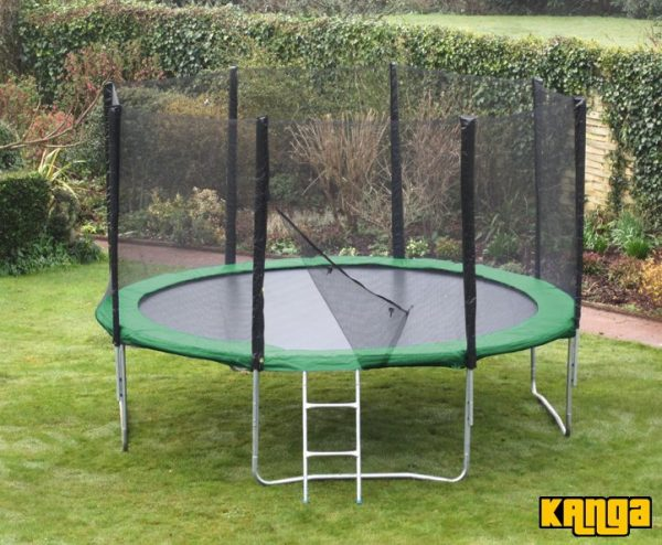 Kanga Hi-Power Green 16ft trampoline package